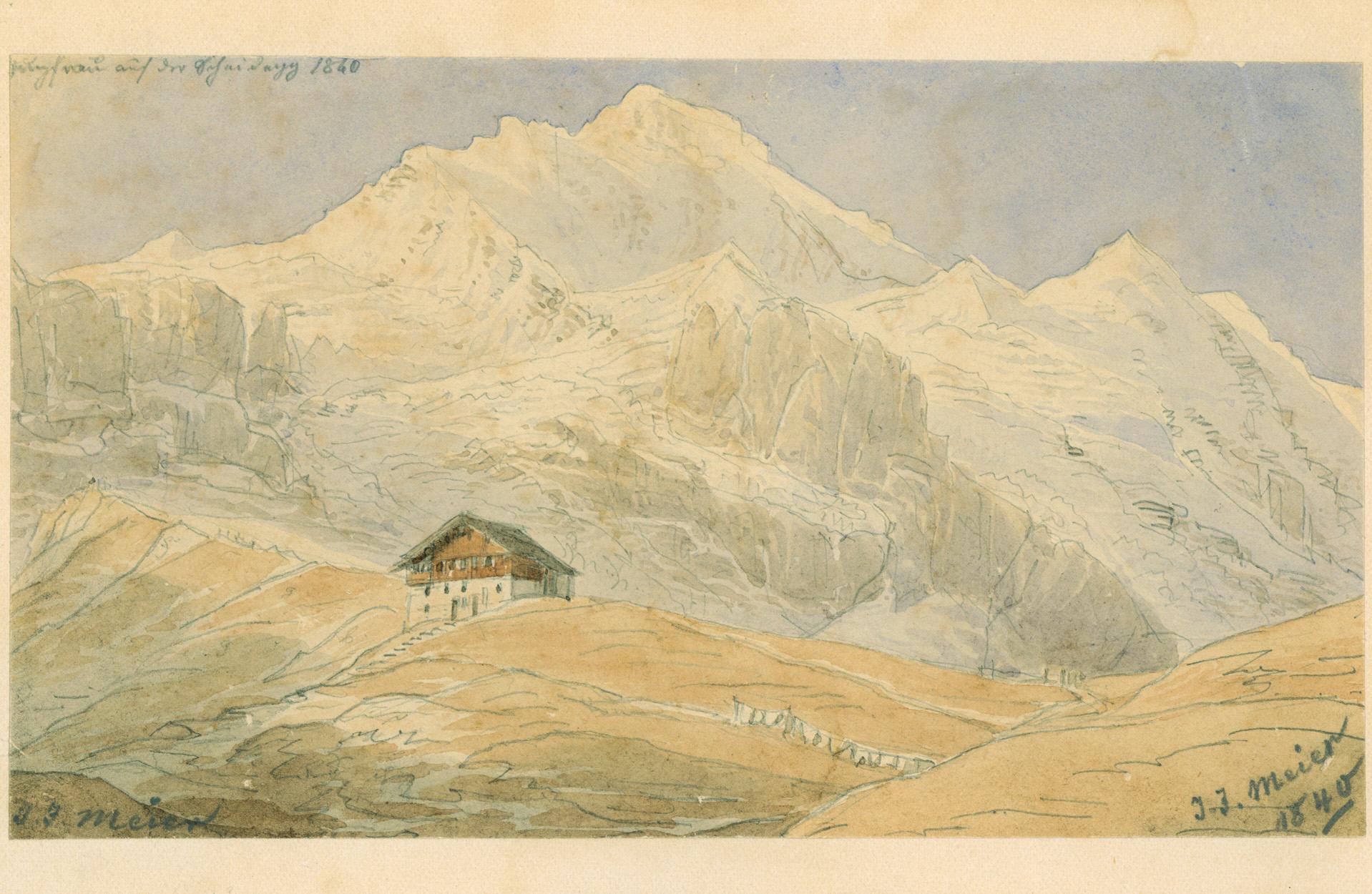 jungfrau in den bergen